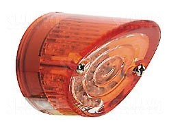 LED-Mini-Rücklicht NOSE, Glas rot/transparent